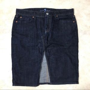 7 For All Mankind Jean Pencil Skirt Size 30